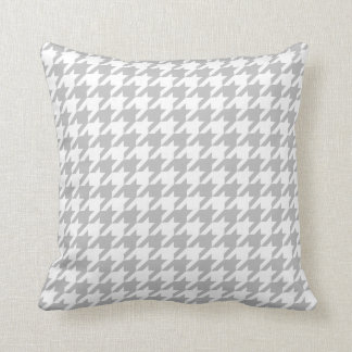 Grey & White Houndstooth | Any Size | Customizable Throw Pillow