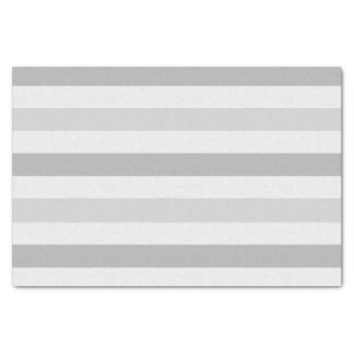 Grey White Stripes Tissue Paper
