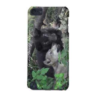 Grey Wolf Cubs Wildlife-Supporter Ipod Case