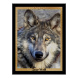 Grey Wolf Dignity Poster