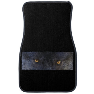 Grey Wolf Eyes Wildlife Art Car Mat