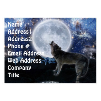 Grey Wolf Fantasy Art Business Cards