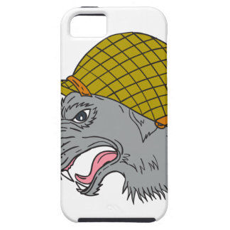 Grey Wolf Head Growling WW2 Helmet Drawing Case For The iPhone 5