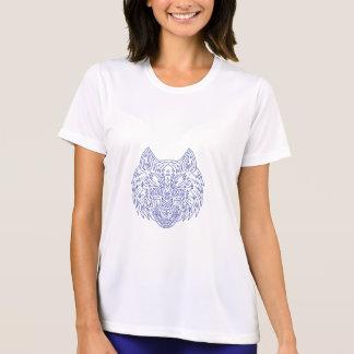 Grey Wolf Head Mono Line T-Shirt