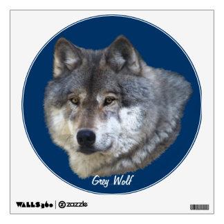 Grey Wolf Head Wildlife Wall Decal