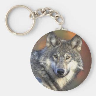 Grey Wolf Key Chain
