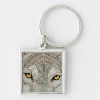 Grey Wolf Keychain