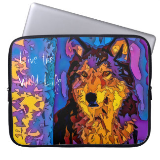 Grey Wolf - Live the Wild Life / Laptop Sleeve