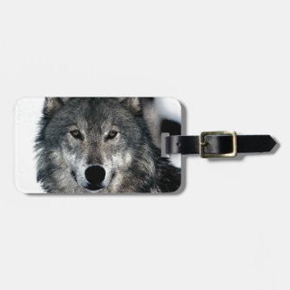 Grey Wolf Luggage Tag