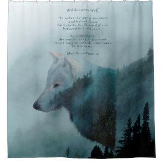 Grey Wolf & Misty Forest - Wildlife Design