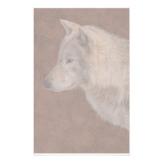 Grey Wolf Portrait Wildlife Art Stationery