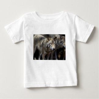 Grey wolf standing baby T-Shirt