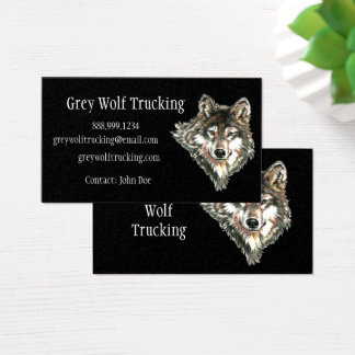 Grey Wolf Trucking Custom Business Card