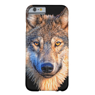 Grey wolf - wolf face barely there iPhone 6 case