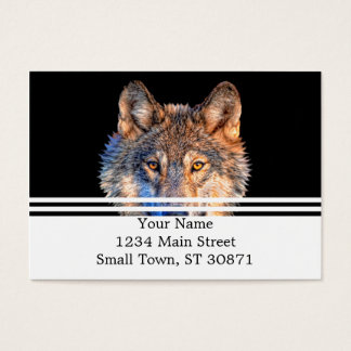 Grey wolf - wolf face business card
