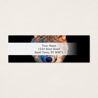 Grey wolf - wolf face mini business card