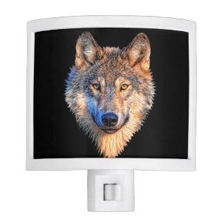 Grey wolf - wolf face nite lights
