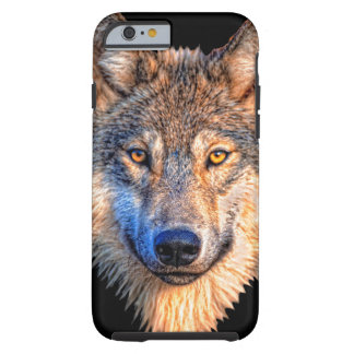 Grey wolf - wolf face tough iPhone 6 case