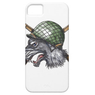Grey Wolf WW2 Helmet Crossed Rifles Tattoo Case For The iPhone 5