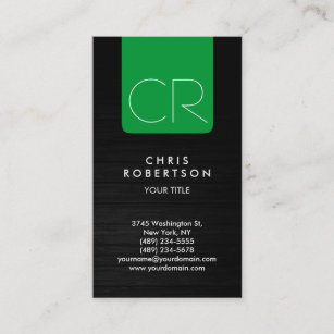 Grey wood business cards business card printing zazzle ca grey wood green stripe monogram business card reheart Images