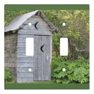 GREY WOODS OUTHOUSE WALLL SWITCH #2 LIGHT SWITCH COVER