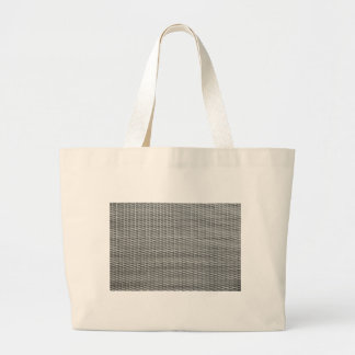 Grey woven webbing background large tote bag