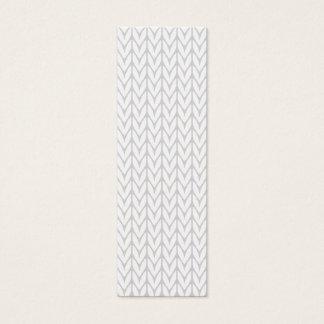 Grey Yarn Chevrons Knit Pattern Style Mini Business Card