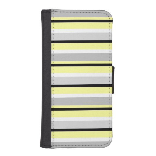 Grey, Yellow and White iPhone 5 Wallet Case