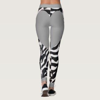 Grey Zebra Heary Leggings