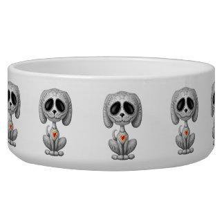 Grey Zombie Sugar Puppy Pet Bowls