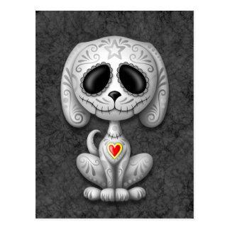 Grey Zombie Sugar Puppy Postcards