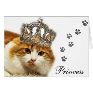 Greyfoot Cat Rescue Orange/White Princess Card