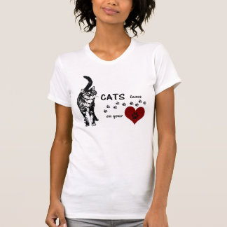 Greyfoot Cat Rescue Paw prints on your Heart Shirt