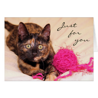Greyfoot Cat Rescue Tortie Just for You Card
