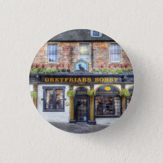Greyfriars Bobby Pub Edinburgh 1 Inch Round Button