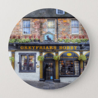 Greyfriars Bobby Pub Edinburgh 4 Inch Round Button