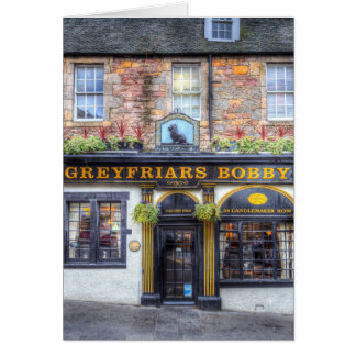 Greyfriars Bobby Pub Edinburgh Card