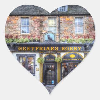 Greyfriars Bobby Pub Edinburgh Heart Sticker