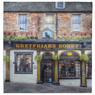Greyfriars Bobby Pub Edinburgh Napkin