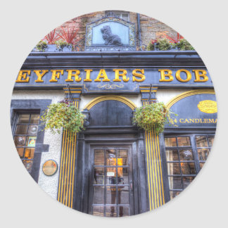 Greyfriars Bobby Pub Edinburgh Round Sticker
