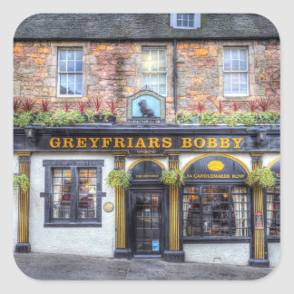 Greyfriars Bobby Pub Edinburgh Square Sticker