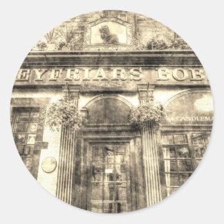 Greyfriars Bobby Pub Edinburgh Vintage Classic Round Sticker