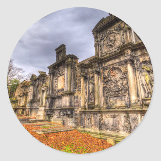 Greyfriars Kirk Cemetery Edinburgh Scotland Round Sticker