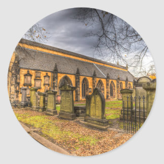 Greyfriars Kirk Church Edinburgh Classic Round Sticker