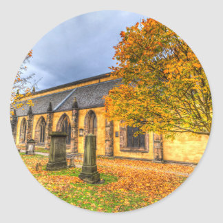 Greyfriars Kirk Church Edinburgh Round Sticker