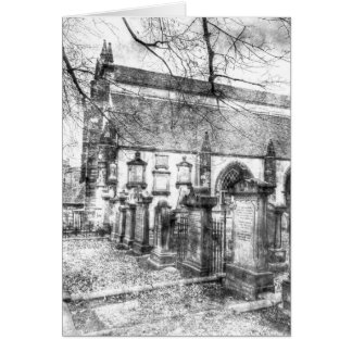 Greyfriars Kirk Church Edinburgh Vintage Card