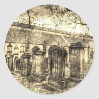 Greyfriars Kirk Church Edinburgh Vintage Classic Round Sticker