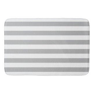 GreyHorizontalStripes Bath Mat