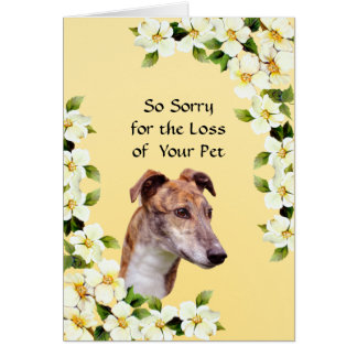 Greyhound and Dogwood - Sympathy Card