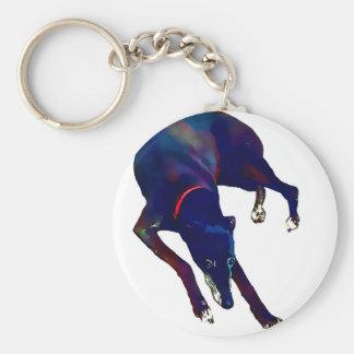 Greyhound Art Keychain
